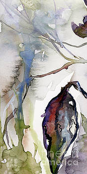Ginette Callaway - Modern Expressive Watercolor Autumn Leave