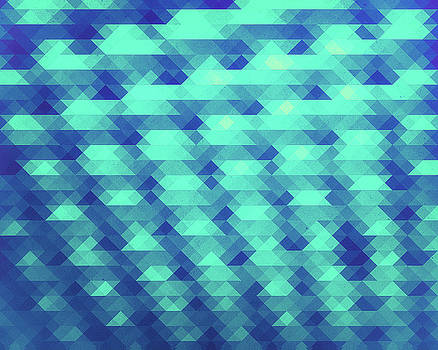 Modern Fashion Abstract Color Pattern in Blue   Green by Philipp Rietz