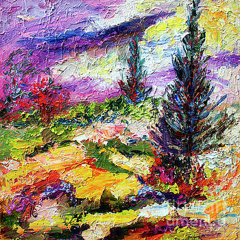 Ginette Callaway - Modern Impressionist Evergreens Landscape