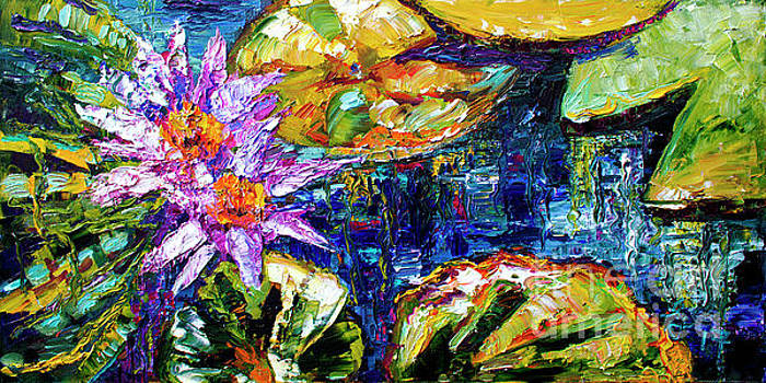 Ginette Callaway - Modern Impressionist Lily Pond Reflections