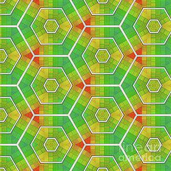 Modern Rainbow Colored Kaleidoscope 1 by Amy Cicconi