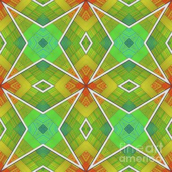Modern Rainbow Colored Kaleidoscope 2 by Amy Cicconi