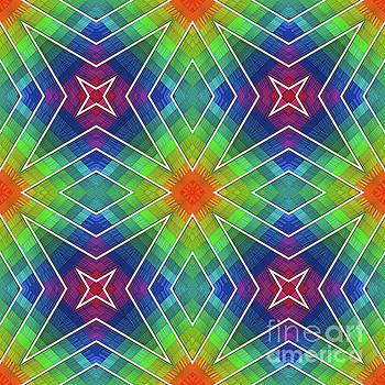 Modern Rainbow Colored Kaleidoscope 3 by Amy Cicconi