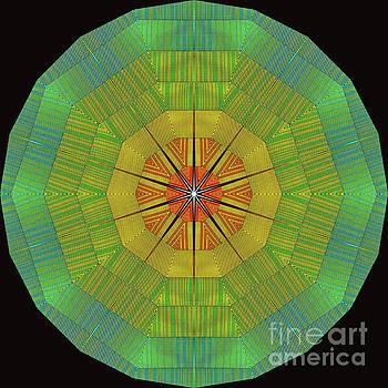 Modern Rainbow Colored Kaleidoscope 7 by Amy Cicconi