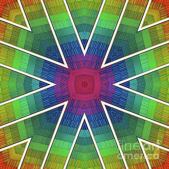 Modern Rainbow Colored Kaleidoscope by Amy Cicconi