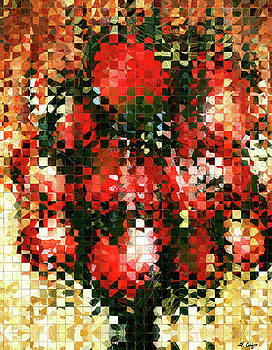 Sharon Cummings - Modern Red Poppies - Pieces 4 - Sharon Cummings