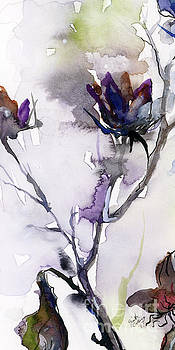 Ginette Callaway - Modern Seeds Pods 3 Watercolor And Ink