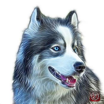 Modern Siberian Husky Dog Art - 6024 - WB by James Ahn