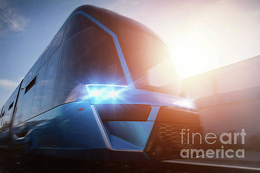 Michal Bednarek - Modern train in movement