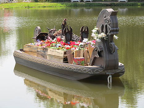 Modern Viking Funeral by Digital Art Cafe