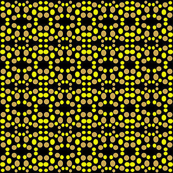 Modern Yellow Dot Pattern by BrightVibesDesign