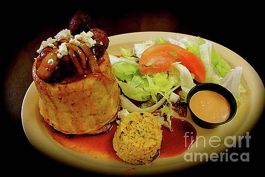 Mofongo stuffed with Chorizos by The Art of Alice Terrill