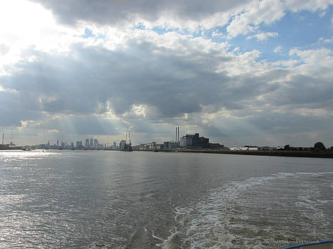 Moggy Afternoon On The Woolwich Ferry Crossing - London by Mudiama Kammoh