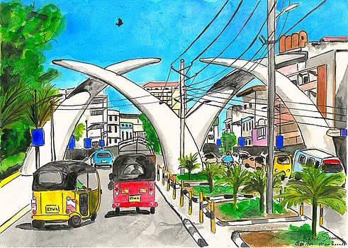 Moi Ave, Mombasa Tusks  by Katie Sasser