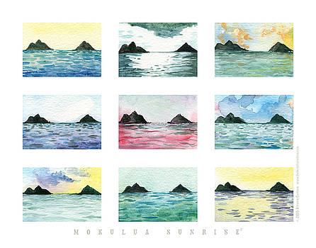 Mokulua Sunrise, series 2 print by Kirsten Carlson