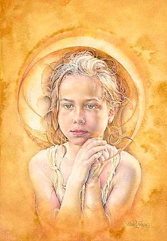 Mollie Eclipsed in golden ochre by David Evans