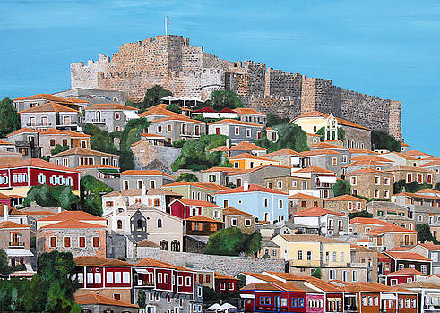 Molyvos Lesvos Greece by Eric Kempson