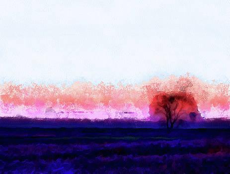 Moment In Blue Horizon Tree by Cedric Hampton