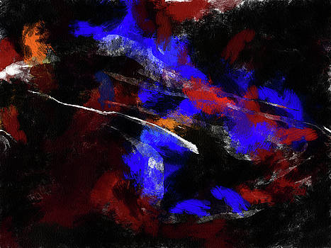 Moment In Blue Night Sky by Cedric Hampton