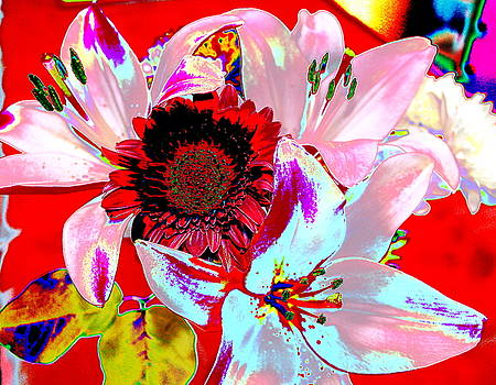 Mom's Day Bouqet Abstract by M Diane Bonaparte
