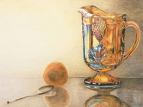 Mom's Orange Juice Pitcher by Charlotte Yealey