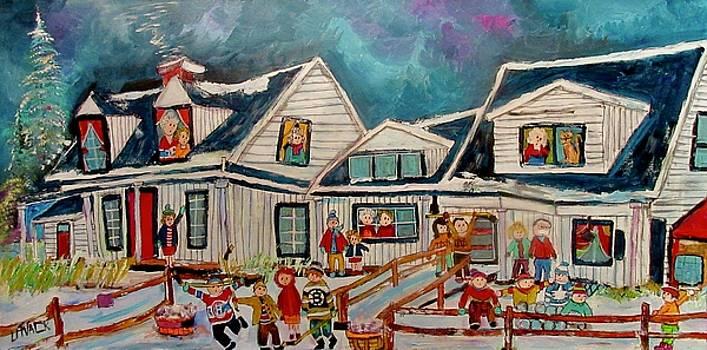 Mon Village Hudson Winter  by Michael Litvack