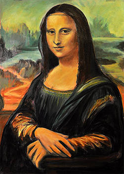 Mona Lisa copy by Gayle Bell