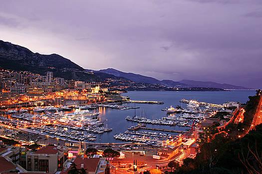 Monaco Harbor at Night by Matt Tilghman