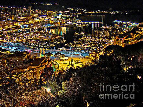 Monaco Marina At Night II by Al Bourassa