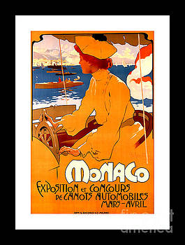 Peter Ogden - Monaco Speed Boat Exposition Art Nouveau Poster 1900 Number 3 Adlpho Hohenstein