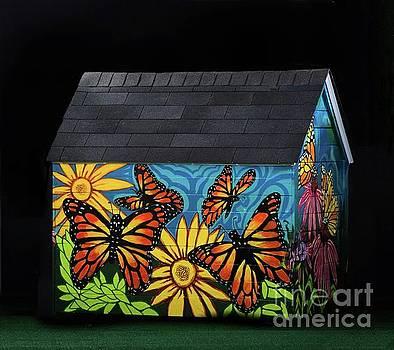 Monarch Butterflies Take Flight by Genevieve Esson