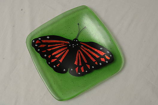 Monarch butterfly sushi plate by Sandy Feder
