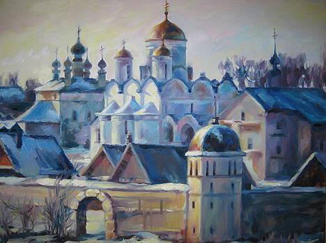 Monastery in Russia by Ekaterina Pozdniakova