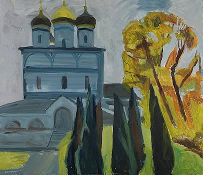 Monastery thujas by Yana Poklad
