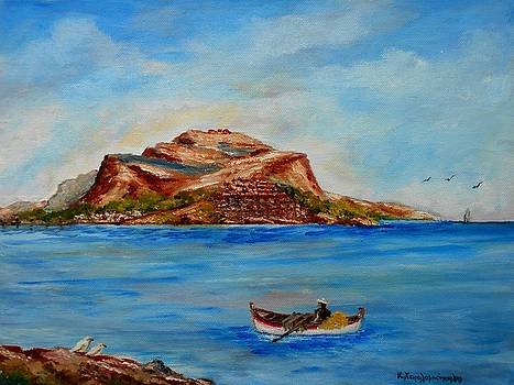 Monemvasia by Konstantinos Charalampopoulos