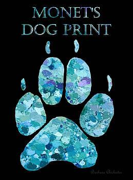 Monet's Dog Print by Barbara Chichester