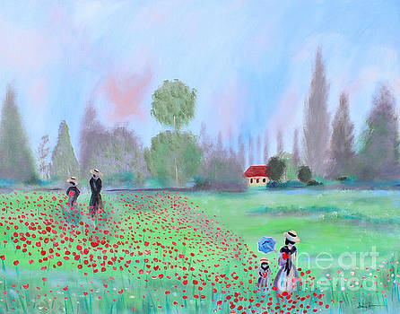 Monet's Field of Poppies by Stacey Zimmerman