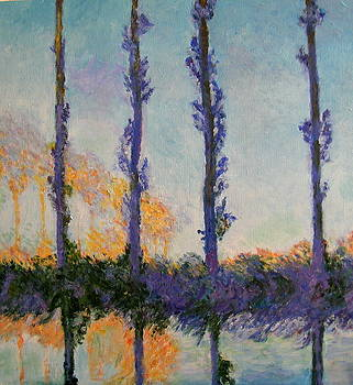 Monet's Four Poplars by Dan Koon