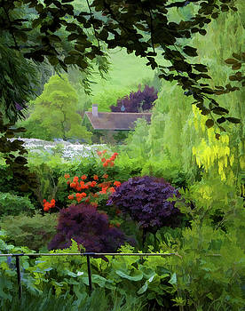 Monet's Garden Digital Painting by Jan Hagan