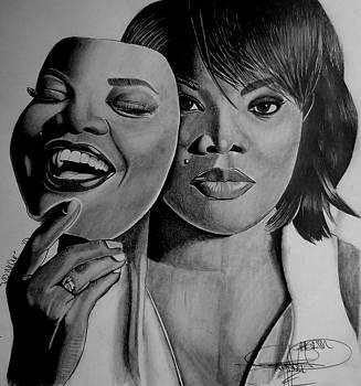 MoNique Drawing by Keeyonardo