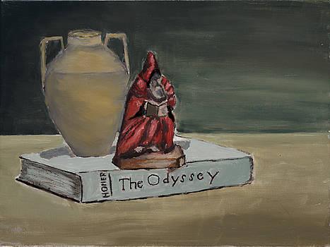 Monk with Vase by Carmela Cattuti