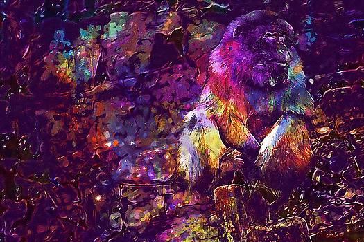 Monkey Animal Wildlife Wild Zoo  by PixBreak Art
