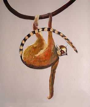 Anne Cameron Cutri - Monkey detail 1 from Mural