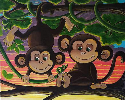 Monkeys  by Yuliya Poly