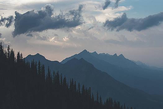 Monochromatic Mountains - Banff, AB by Ryan McKee