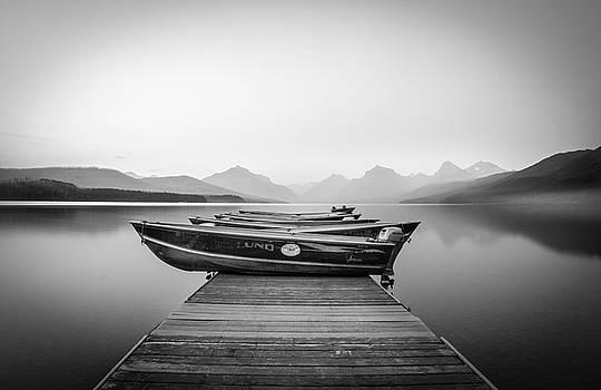Monochrome // Lake McDonald, Glacier National Park by Nicholas Parker