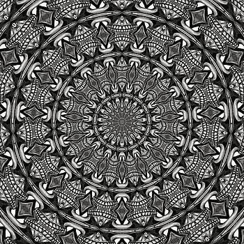 Monochrome Mandala by Tracey Harrington-Simpson