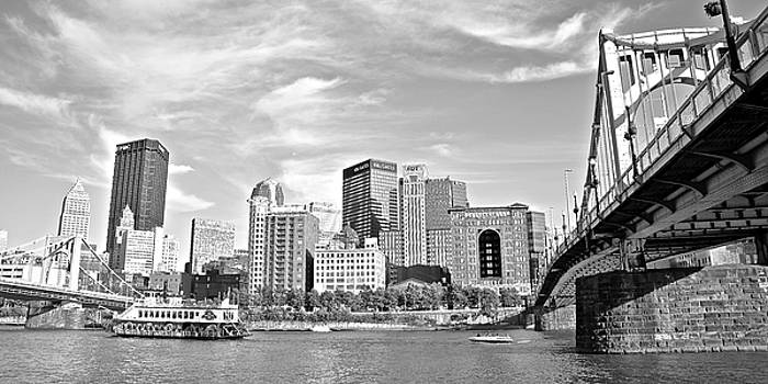 Monochrome Pittsburgh Panorama by Frozen in Time Fine Art Photography