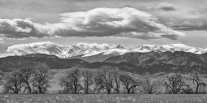 Monochrome Rocky Mountain Front Range Panorama Range Panorama by James BO Insogna