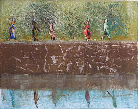 Monotype - Water Line by Libby  Cagle